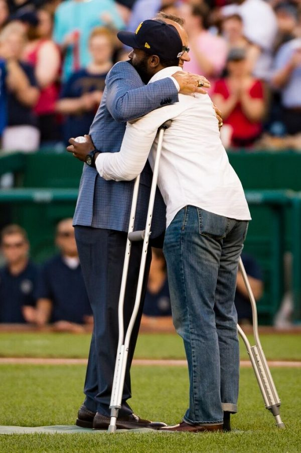 Joe Torre and David J. Bailey at the 2017 Congressional Baseball Game credit Michael Jordan BPE