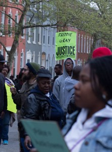 Baltimore started out with peaceful protests but that changed within two days. (Erik Hoffman)