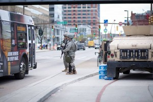 The National Guard continues to patrol the streets in Baltimore following the worst riots since 1968. (Erik Hoffman)