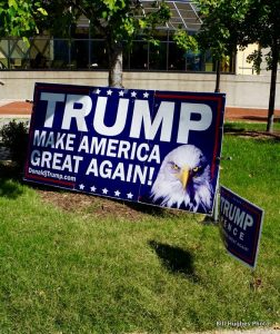 Trump signs decorated Charm City.