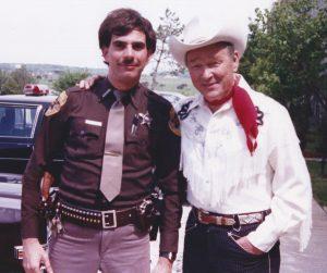 Doug Poppa with singing cowboy legend Roy Rogers, 1980.