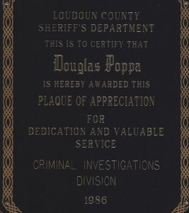 1986 Criminal Investigator of the Year Award