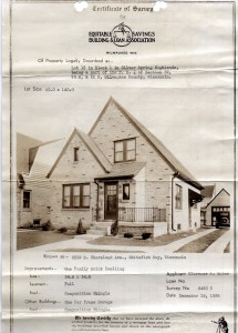This is Lillian Maier's house on Shorewood Avenue in Whitefish Bay, Wisconsin.