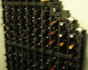 The wine rack we had to buy to house all the wine.