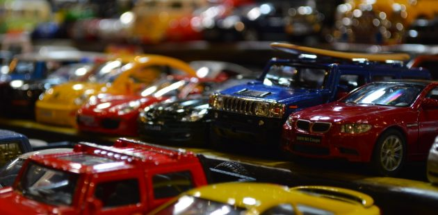 Toy cars at the 2017 Baltimore International Auto Show (Anthony C. Hayes)