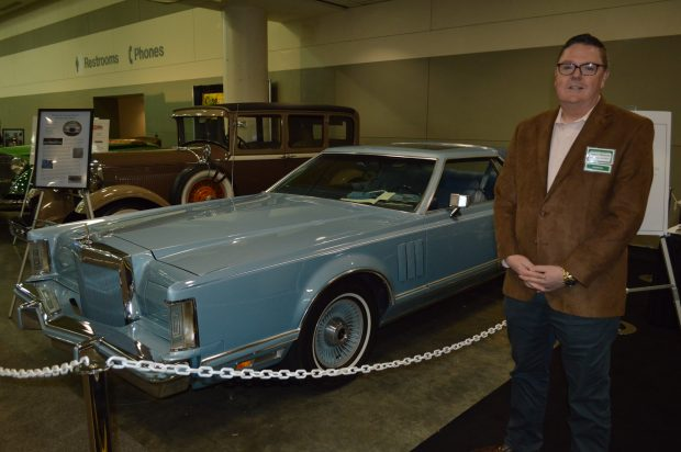 At the 2017 Motor Trend International Auto Show in Baltimore: Robert Meekins with his Diamond Blue 1978 Lincoln Continental Mark V. (Anthony C. Hayes)
