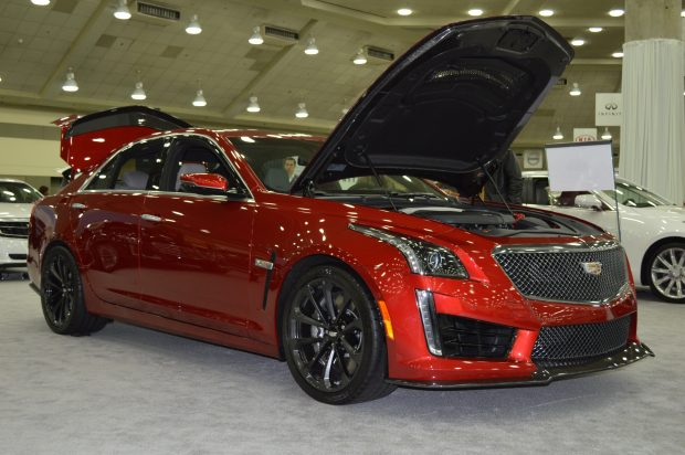 A Cadillac CTS-V at the 2017 Baltimore International Auto Show. (Anthony C. Hayes)