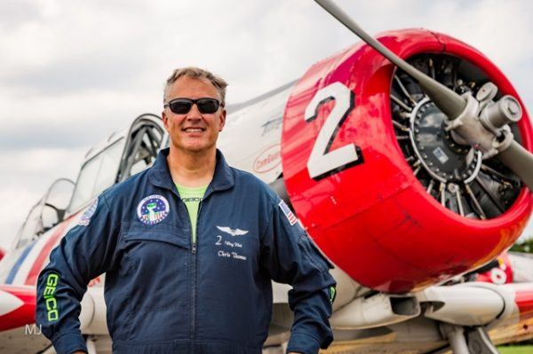Capt. Chris Thomas GEICO Skytypers media flight over Annapolis, Maryland credit Michael Jordan BPE