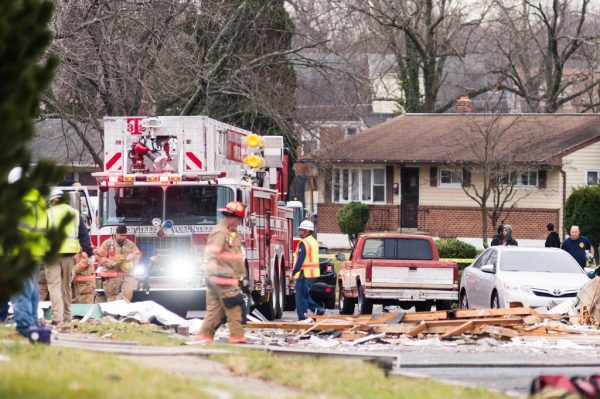 Gas explosion in the Woodmoor area of Baltimore County. (Credit Michael Jordan BPE)