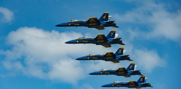 Blue Angels performed at the US Naval Academy. (Michael Jordan/BPE)