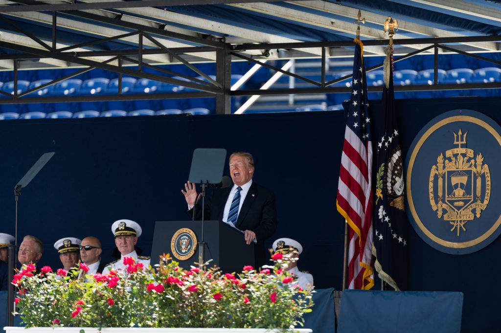 May 25, 2018, Annapolis, Md. - Commencement at the United States Naval Academy. The President of the United States, Donald J. Trump, was the keynote speaker for the class of 2018. (All photos by Mike Jordan/Staff Photographer)
