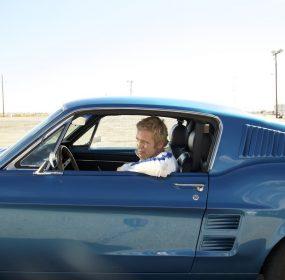 Andre Brooks portrays film icon Steve McQueen in Chasing Bullitt. (courtesy Toe Pictures/Vertical Entertainment)