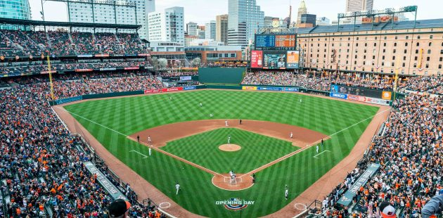 Baltimore Orioles vs New York Yankees at Oriole Park at Camden Yards for 2019 home opener. April 4, 2019. (Credit Michael Jordan/BPE)
