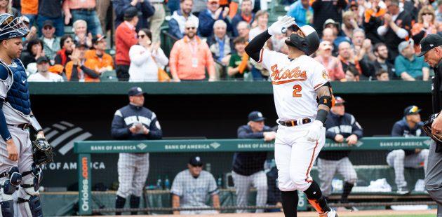 Baltimore Orioles vs New York Yankees at Oriole Park at Camden Yards for 2019 home opener. April 4, 2019. (Credit Michael Jordan/BPE)