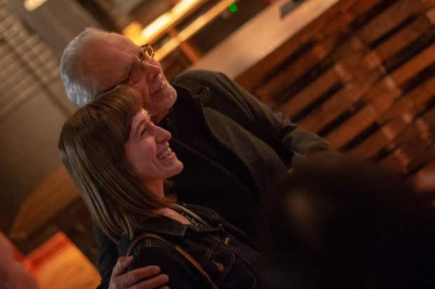 Grammy Award winning artist Herb Alpert poses with fans on Wednesday May 1, 2019 at City Winery in Washington DC. (PHOTO/Mike Jordan)