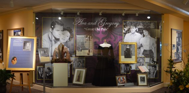 Great Old Pals: A display featuring Ava Gardner and Gregory Peck at the Ava Gardner Museum in Smithfield, North Carolina. (Anthony C. Hayes)