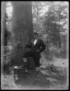 James Lewis (1881-1959), a Baltimore photographer from Canton, started taking photos when he was 15 years old. Using the glass plate process, Lewis took photos of a variety of subjects including landscapes, architecture, and interiors, but perhaps most compelling of all were his portraits. Reflections: A Brief History of Looking at Ourselves, features a selection of Lewis's work focused on his family and friends, showing mastery of composition and subject placement.