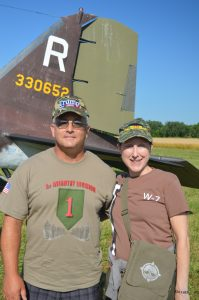 C-47 Whiskey 7 at the 2019 National Warplane Museum Airshow in Geneseo, New Yourk. Niagara County residents Kelli and Jeff said they come to the airshow every year. Anthony C. Hayes)