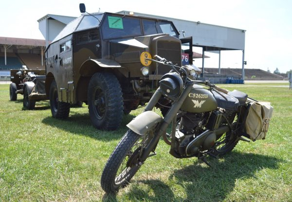 A motorcycle on display at the 2019 Military Vehicle Preservation Association Convention in York, PA. (Anthony C. Hayes)
