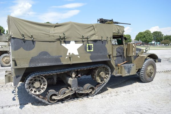 A half-track on display at the 2019 Military Vehicle Preservation Association Convention in York, PA. (Anthony C. Hayes)