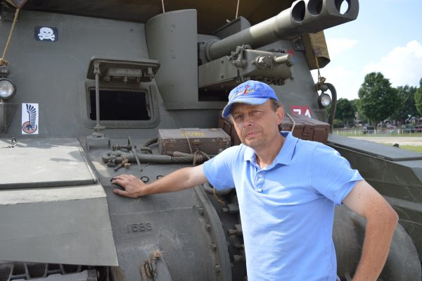 """Miroslaw """"Mike"""" Hrycak jumped into the military vehicle hobby about 15 months ago. Mike brought an assortment of vehicles to the 2019 Motor Vehicle Preservation Association Convention in York, PA. (Anthony C. Hayes)"""