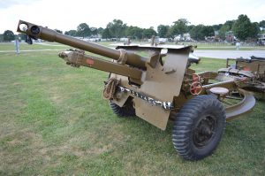 """An artillery piece from """"Mike"""" Hrycak's collection on display at the 2019 Military Vehicle Preservation Association Convention in York, PA. (Anthony C. Hayes)"""