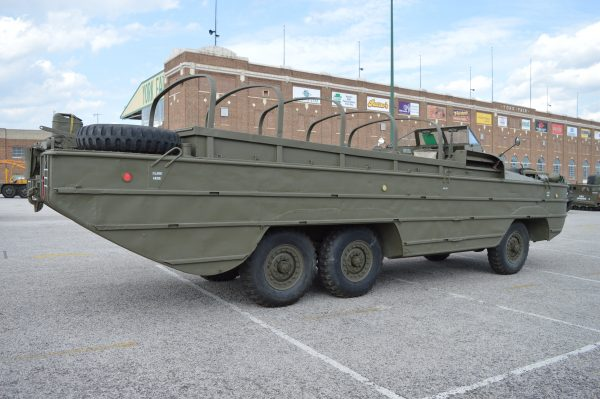 A duck boat on display at the 2019 Military Vehicle Preservation Association Convention in York, PA. (Anthony C. Hayes)