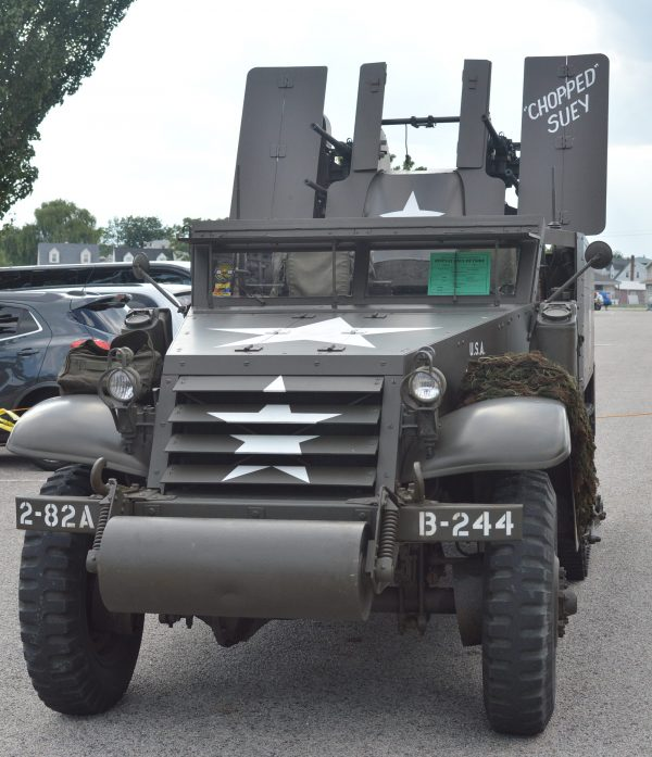 A military vehicle on display at the 2019 Military Vehicle Preservation Association Convention in York, PA. (Anthony C. Hayes)
