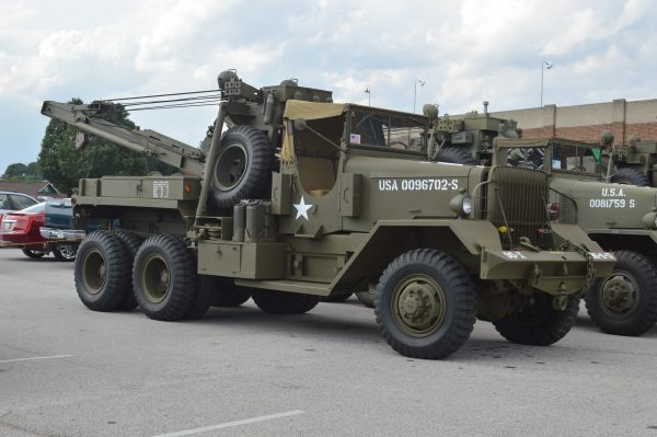 A tow truck on display at the 2019 Military Vehicle Preservation Association Convention in York, PA. (Anthony C. Hayes)