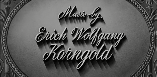 Screenshot of a credit from the film Escape Me Never. The life and music of Erich Wolfgang Korngold will be featured at the 2019 Bard Music Festival