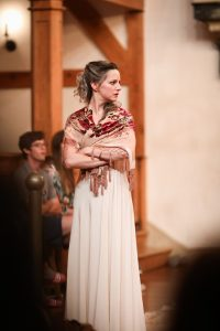 Leighton Brown in the American Shakespeare Center's Blackfriar Playhouse production of Julius Caesar. Photo by Lindsey Walters.
