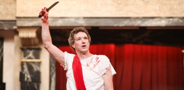 John Harrell in Julius Caesar at the Blackfriars Playhouse. Photo by Lindsey Walters.