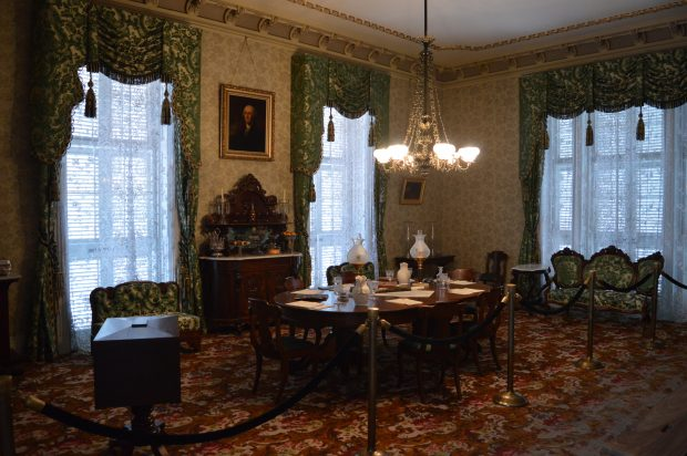 The dining room of the White House of the Confederacy. (Anthony C. Hayes)
