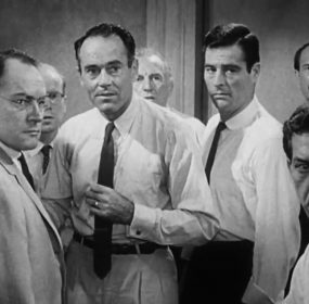 A screenshot from the 1957 movie 12 Angry Men. (Wikimedia Commons)