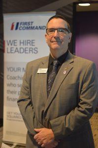 Alan Bisenieks at the February 2020 DAV/RecruitMilitary Baltimore Veterans Job Fair. (Anthony C. Hayes)