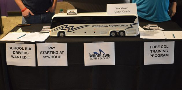 Woodlawn Motor Coach was one of the businesses looking to hire veterans at the DAV/RecruitMilitary Baltimore Veterans Job Fair