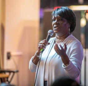 Denise Johnson is executive director of the Arch Social Community Network, an arts and culture nonprofit dedicated to revitalizing Old West Baltimore through cultural engagement, economic cultivation, and youth development. Photo by Edwin Remsberg Photographs.