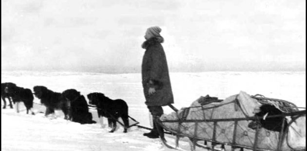 Joe Quigley with his dog sled from the book: Joe Quigley, Alaska Pioneer ~ Beyond the Gold Rush.