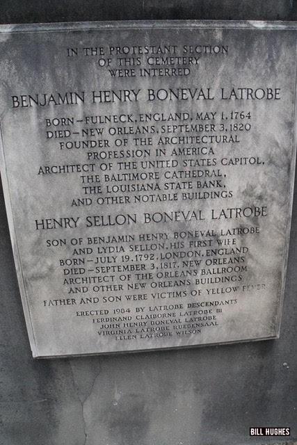 Benjamin H. Latrobe's Tombstone