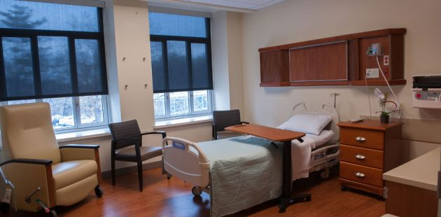 A hospice room at Sinai Hospital in Baltimore, Maryland is operated by Seasons Hospice and Palliative Care of Maryland