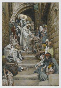 Dans les villages on lui présentait des malades. (James Tissot.~ Brooklyn Museum - Public-Domain)