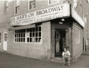 Ron Furman, co-owner of Max's Taphouse, sits outside Max's on Broadway — as the establishment was then known — in the mid-1980s. (Courtesy: Ron Furman)