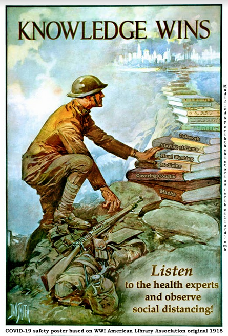 COVID-19 Propaganda Poster: Credit Dr. Erik Villard U.S. Army Center of Military History