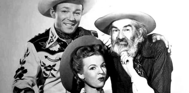 Roy Rogers, Dale Evans and Gabby Hayes publicity photo.