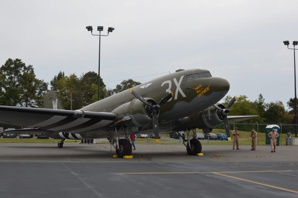 The Commemorative Air Force has returned the C-47 That's All Brother to its exact wartime appearance. 2020 Arsenal of Democracy Flyover credit Anthony C. Hayes 056