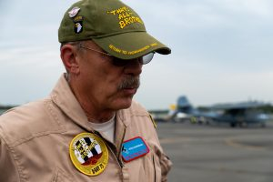 Pilot Doug Doug Rozendaal of the Commemorative Air Force. Credit Mike Jordan/BPE