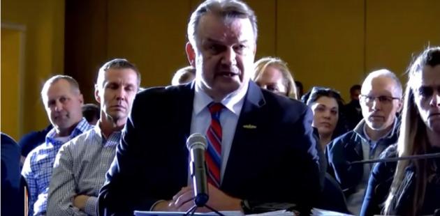Computer data scientist Gregory Stenstrom testifying on irregularities in the 2020 vote in Delaware County, PA. (YouTube screenshot)