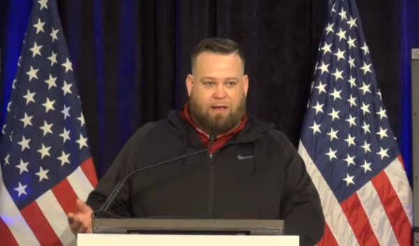 Jesse Morgan describing the unusual chain of events which led to the loss of his trailer contained hundreds of thousands of mail-in ballots. (YouTube screenshot)
