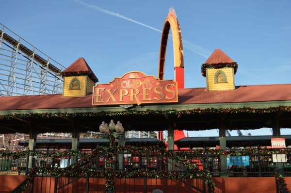 The Holiday Express station at Six Flags Holiday in the Park. (credit Anthony C. Hayes/BPE)