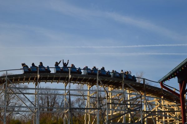 A rollercoaster at Six Flags Holiday in the Park. (credit Anthony C. Hayes/BPE)